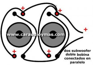 conectar 2 woofer doble bobina a amplificador soundstream x1-2000d